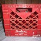 VINTAGE SEALTEST RED PLASTIC CRATE NED