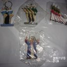 BRAND NEW LOT OF FOUR RADIO CITY CHRISTMAS KEYCHAINS ROCKETTES SOLDIERS SCROOGE