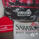 BRAND NEW LOT OF THREE SARATOGA RACECOURSE ITEMS BAG HAT SHIRT HORSE RACING