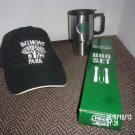 BRAND NEW LOT OF THREE BELMONT PARK ITEMS CAP MUG BBQ KIT HORSE RACING