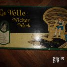 VINTAGE 1922 LA VELLE WICKER WORK NO. 110 KIT OUTFIT TOY IN ORIGINAL BOX RARE