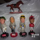 BRAND NEW SET OF FIVE SARATOGA RACE COURSE BOBBLEHEADS FOUR STAR DAVE BAILEY