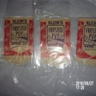 VINTAGE LOT OF THREE KLEIN'S FROSTED POP WATER ICE BAG WRAPPERS