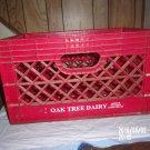 VINTAGE OAK TREE DAIRY PLASTIC RED CRATE