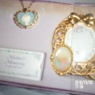 VINTAGE PRECIOUS MEMORIES MOTHER'S MEMORIES A SPECIAL SON JEWELRY SET