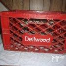 VINTAGE DELLWOOD MILK DAIRY PLASTIC RED CRATE