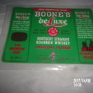 VINTAGE 100 MONTHS OLD BOONE'S DELUXE KENTUCKY STRAIGHT BOURBON WHISKEY LABEL