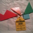 VINTAGE FLY JET STREAM AIRLINES FIVE PIECE PUZZLE KEYCHAIN