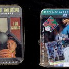 LOT OF TWO TINS OD METALLIC IMPRESSIONS COLLECTOR CARDS GRIFFEY GEHRIG RIPKEN