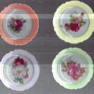 VINTAGE SET OF FOUR PAINTED DISHES MADE IN JAPAN