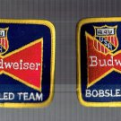 VINTAGE SET OF TWO BUDWEISER USA OLYMPIC BOBSLED TEAM PATCHES