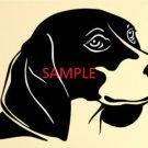 BEAGLE DOG HEAD CROSS STITCH CHART