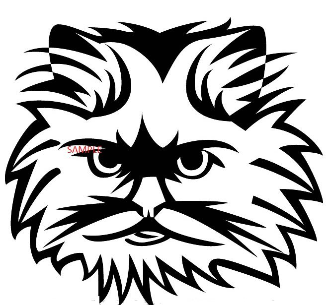 FLUFFY CAT HEAD CROSS STITCH CHART