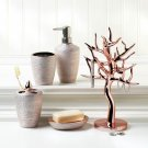 Rose Gold Bathroom Accessories Set + Rose Gold Jewelry Tree