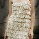 Handmade Crochet 100% Cotton Ruffle Dress size XS