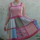 Handmade Crochet Varicolored Square Dress size S