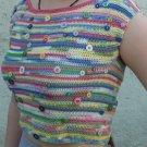 Handmade Crochet Varicolored Girls Top (14-16 years)