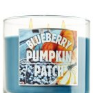 BATH AND BODY WORKS BLUEBERRY PUMPKIN PATCH scented, 14.5 oz; 3 wicked candle