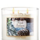 Bath & Body Works White Barn Fresh Balsam 3 Wick Scented Candle