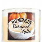 Bath & Body Works 3-wick Candle Pumpkin Caramel Latte (Pumpkin Cafe Collection) Limited Edition 2014