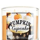 1 X Bath & Body Works Pumpkin Cafe Limited Edition 2014 PUMPKIN CUPCAKE 3 Wick Scented Candle 14.5 o