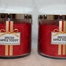 Lot of 2 Bath & Body Works Spiced Apple Toddy 3 Wick Scented Candle 14.5 Oz Each (Scented)