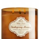 Bath & Body Works 2014 White Barn THANKSGIVING MORNING 3 Wick Scented Candle 14.5 oz./411 g