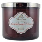 White Barn Sandalwood Citrus Scented Candle 3 Wick 14.5 oz By Bath & Body Works