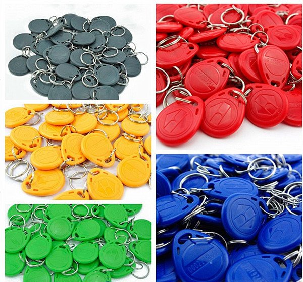 NSEE 10pcs RFID 125Khz KeyFob Tag Proximity Card Reader ID TK/EM4305 Token Re-Writable