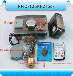 MC-203E S10 DC12v Metal Electronic Integrated RFID Double Reading Card Door Lock