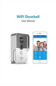Wifi Doorbell Smart Phone Control Camera HD 720P IP Motion Detector Android/IOS