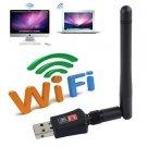 150 Mbps Dual Band 2.4 Wireless USB WiFi Network Adapter 802.11g/b/n w/Antenna