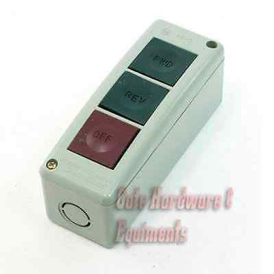 NSEE PBS-3 FWD/REV/STOP Momentary Three Button Push Control Station Switch UL