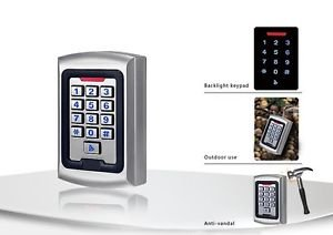 US Automatic / Sentry 300 12V Metal RFID Heavy Duty Wired Keypad Waterproof Gate