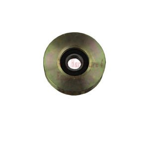 """8 Pack 1 1/2"""" Steel V Track Groove Gate Wheel Single Pulley Bearing Gold Color"""