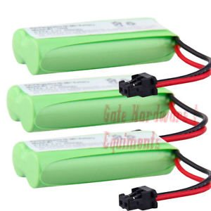 3 Pack Dantona T-T104 Replacement Cordless Battery 2.4V 700maH NIMH (BATT-6010)