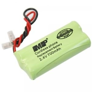 MP Replacement Battery Green 2.4V 700maH Ni-MH Plug Cordless Telephone Universal
