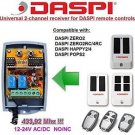 DASPI ZERO2 2RC/4RC POPS2 Compatible 2-channel Receiver 12-24V AC/DC 433.92MHz