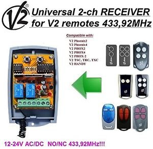 V2 Phoenix/PHOX/Handy/TSC Compatible 2-channel Receiver 12-24V AC/DC 433.92MHz