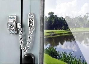 SS Door Bolt Chain Guard Home Lock Child Safety Security Swing Gate Window Latch