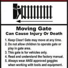 "Warning Signs 2 Pack Moving Gate Can Cause Serious Injury 8""x12"" Safety UV & UL"