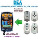 DEA MIO TR2/TR4, TD2/TD4 Compatible 2-channel Receiver 12-24V AC/DC 433.92MHz