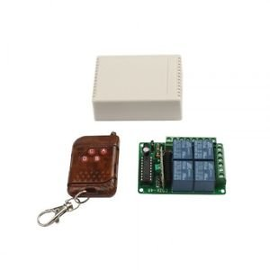 4 Channel Wireless Fixed Code 12v Remote Control Switch Board Electrical Circuit