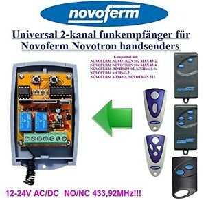 Novoferm Novotron 502 MAX43 Compatible 2-channel Receiver 12-24V AC/DC 433.92MHz