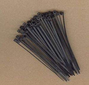 "1000 Black 4"" Long Heavy Duty 50lbs Pound NYLON UV Cable Ties Zip Ty Wraps USA"