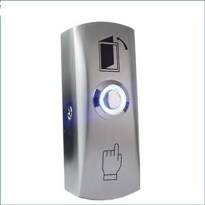 12/24v Stainless Steel LED Light Release Access Control Exit Button Door Open