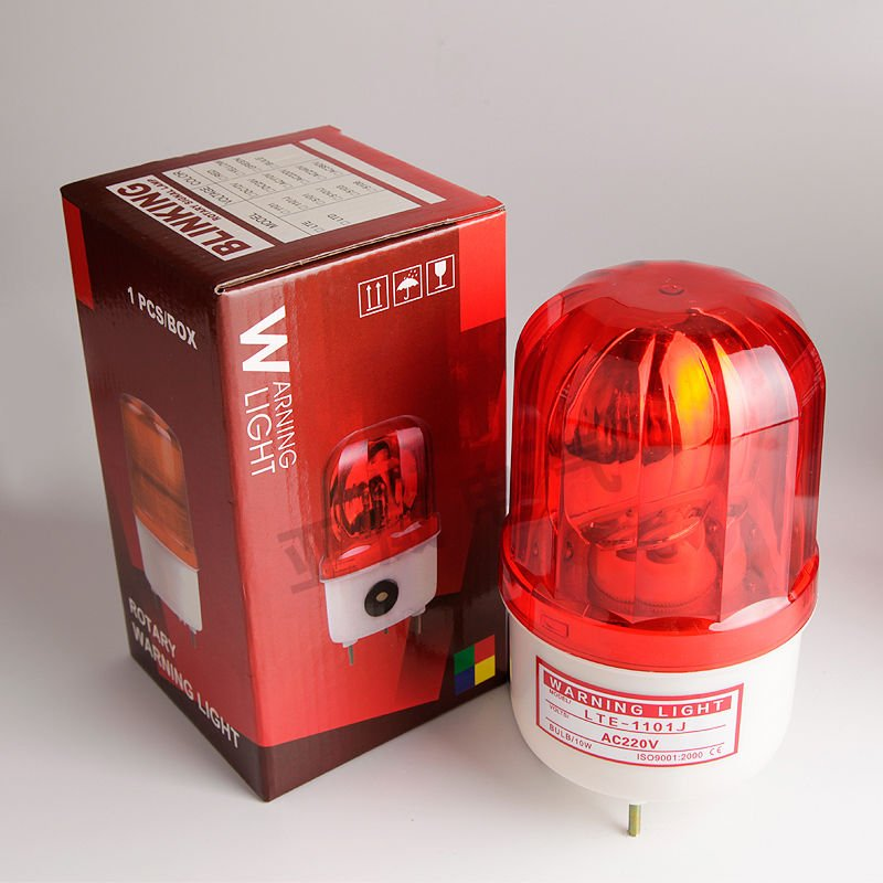 NSEE LTE1101J Rotatory Red Strobe Warning Light Security Siren 90dB Outdoor IP54
