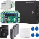 4 Doors Security Network RFID Access Control Board Kit Metal AC110V Power Box