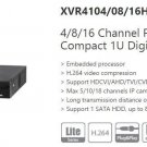 Dahua XVR41 4/8/16 Channel 5in1 DVR 1080P XVR/AHD/TVI/CVI/IP/CVBS Video Recorder