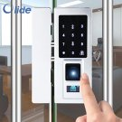 Olide SD45 Glass Frame Door Gate Lock Fingerprint Keypad RFID Card Reader KeyTag